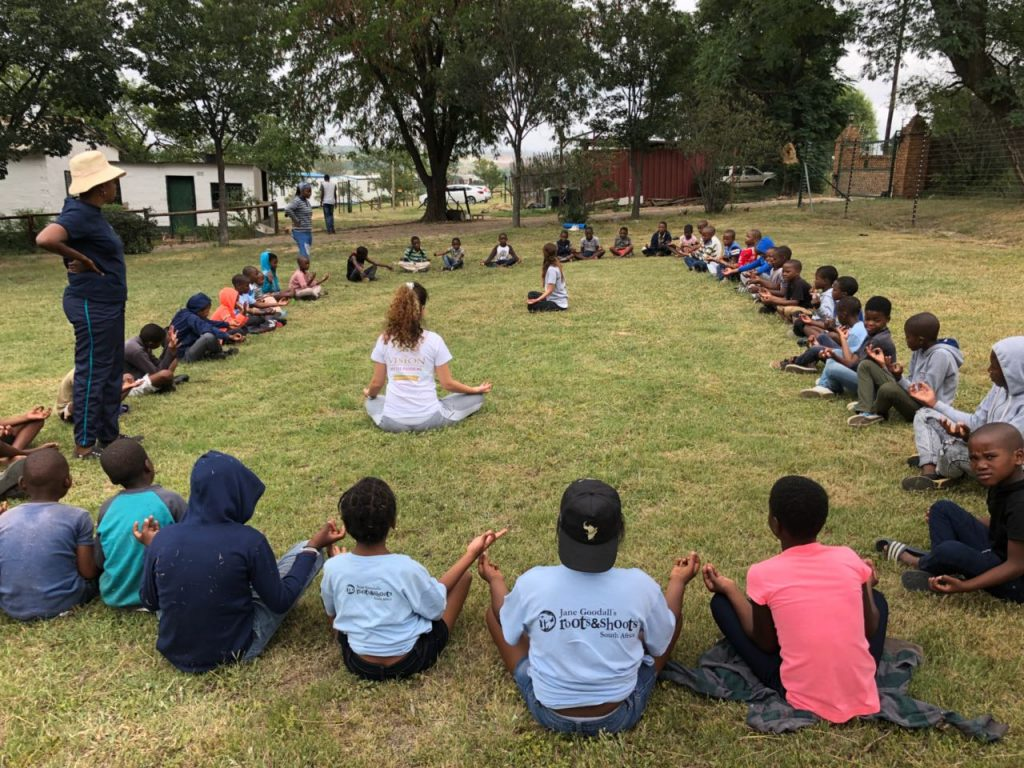 Hosting a yoga session in Johannesburg for 45 kids in collaboration with ACT Foundation SA for February 23rd - the Birthday of our inspiration, guide and guardian - Mohanji